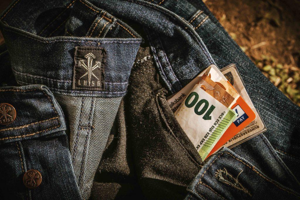 Versteckte Innentasche für Geld etc.