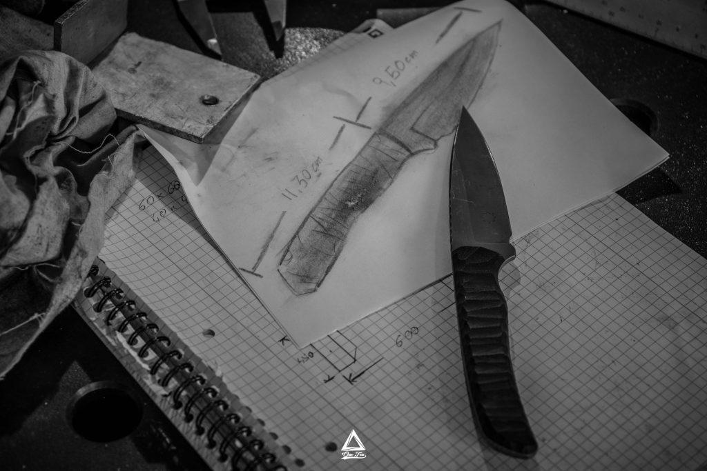 Messer in der Werkstatt